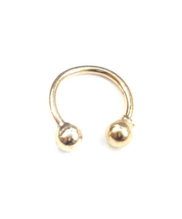 Piercing de ouro 18k de orelha, nariz ou tragus bolinhas
