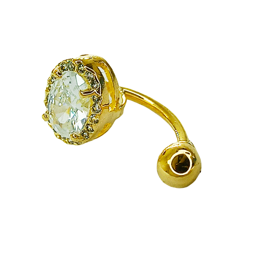 Piercing de ouro 18k de umbigo