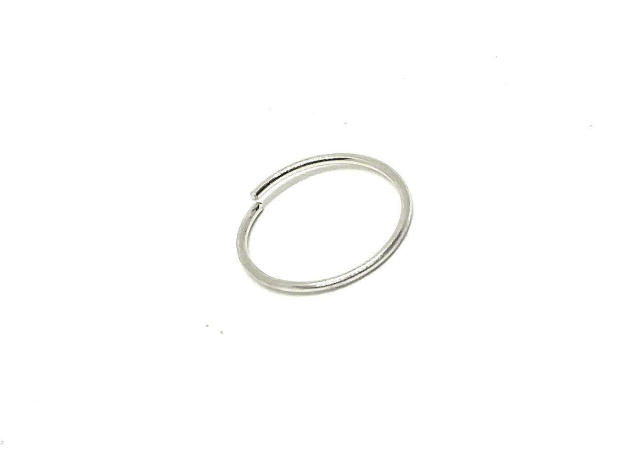 Piercing de ouro Branco 18k argola de nariz
