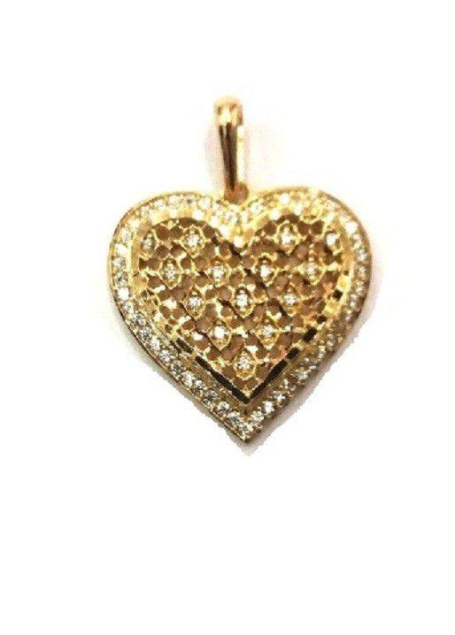 Pingente de ouro 18k cuore di fusione