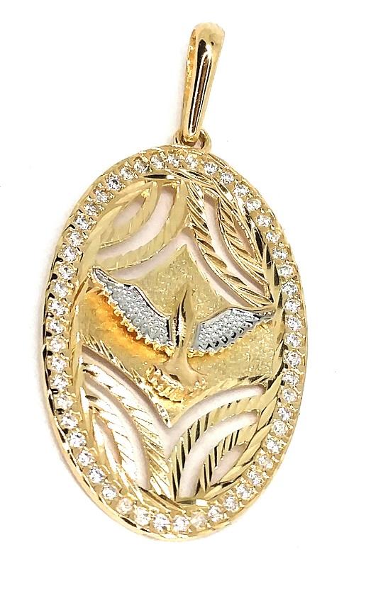 Pingente de ouro 18k Espirito Santo