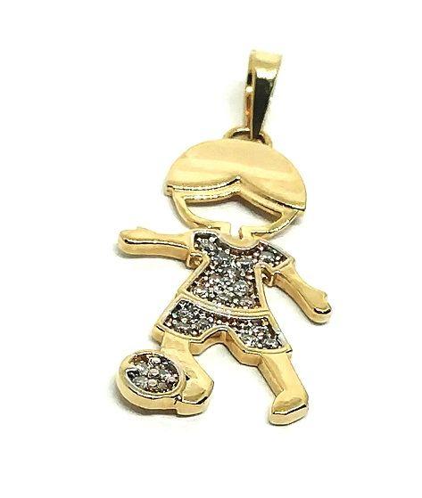 Pingente de ouro 18k Filho com Pedras