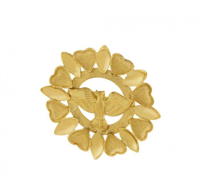 Pingente De Ouro 18k Mandala Espirito Santo