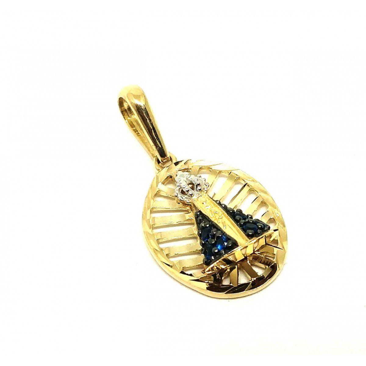 Pingente de ouro 18k Nossa Senhora Aparecida
