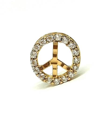 Pingente de ouro 18k Paz