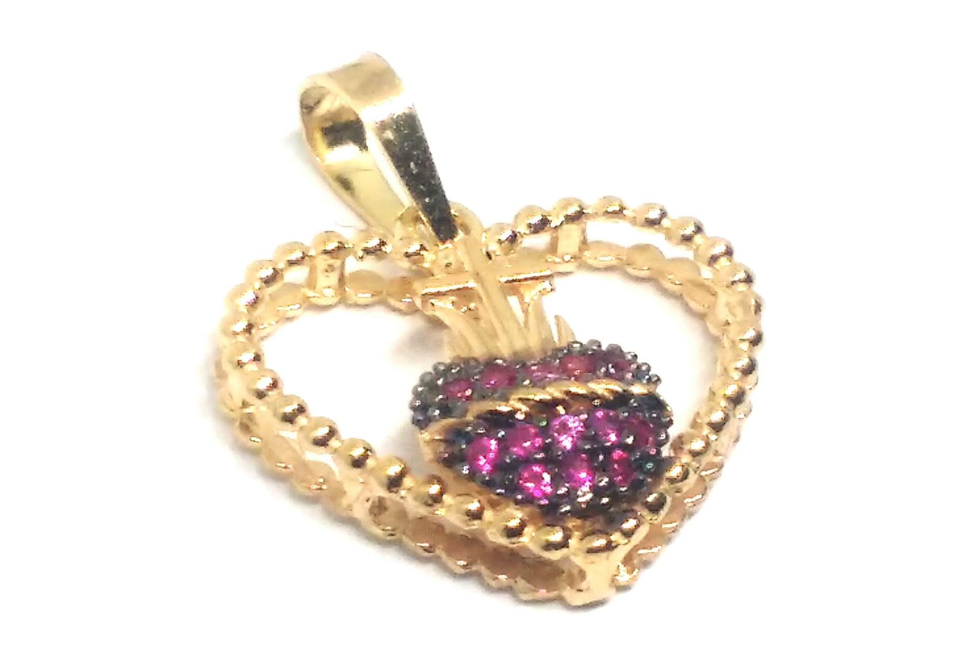 Pingente de ouro 18k Sagrado Coração
