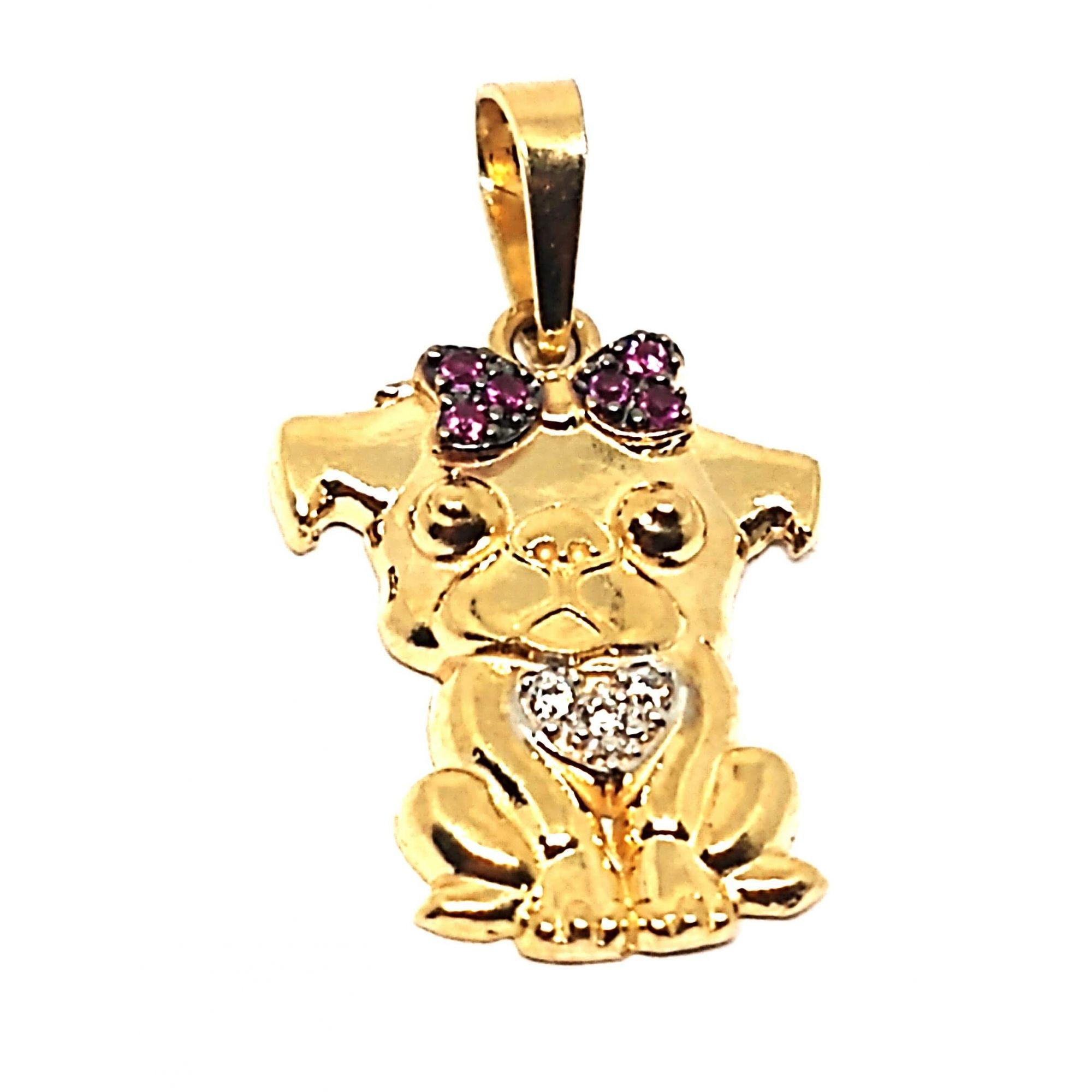 Pingente em Ouro 18k Cachorro