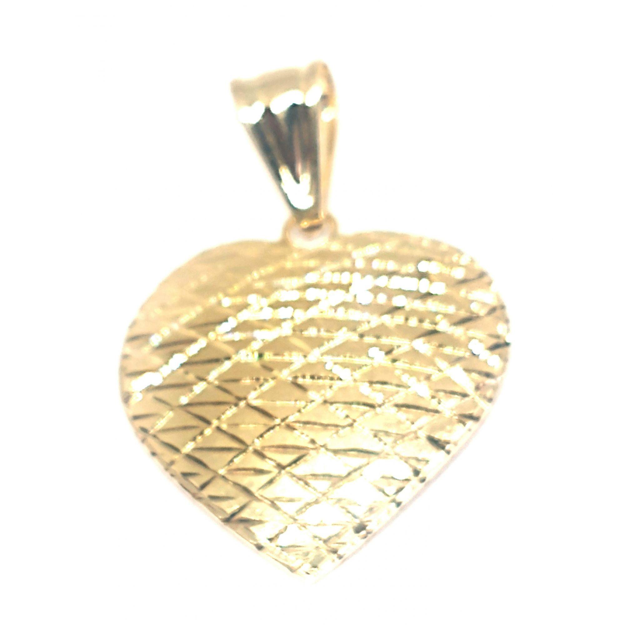 Pingente em ouro 18k coração