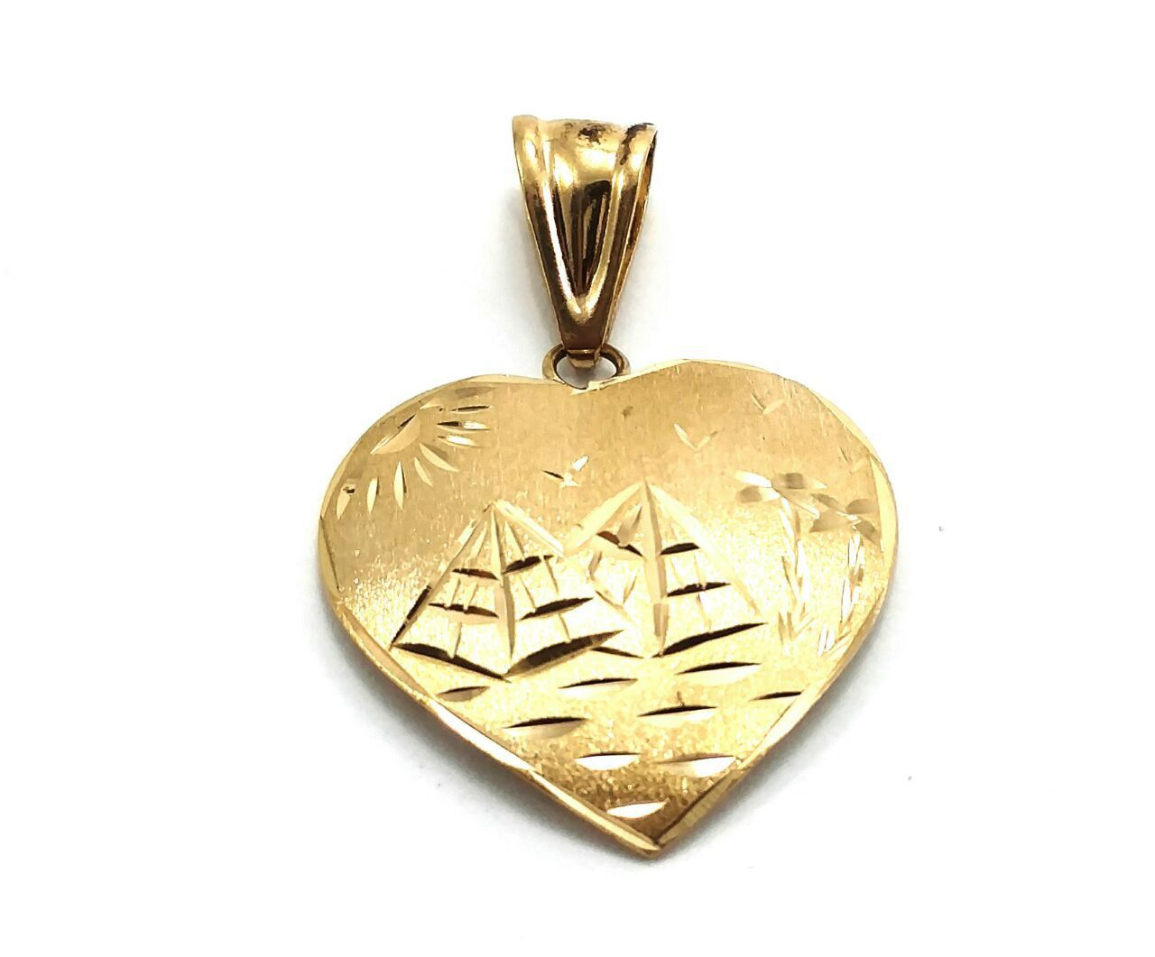 Pingente em ouro 18k coração escravo