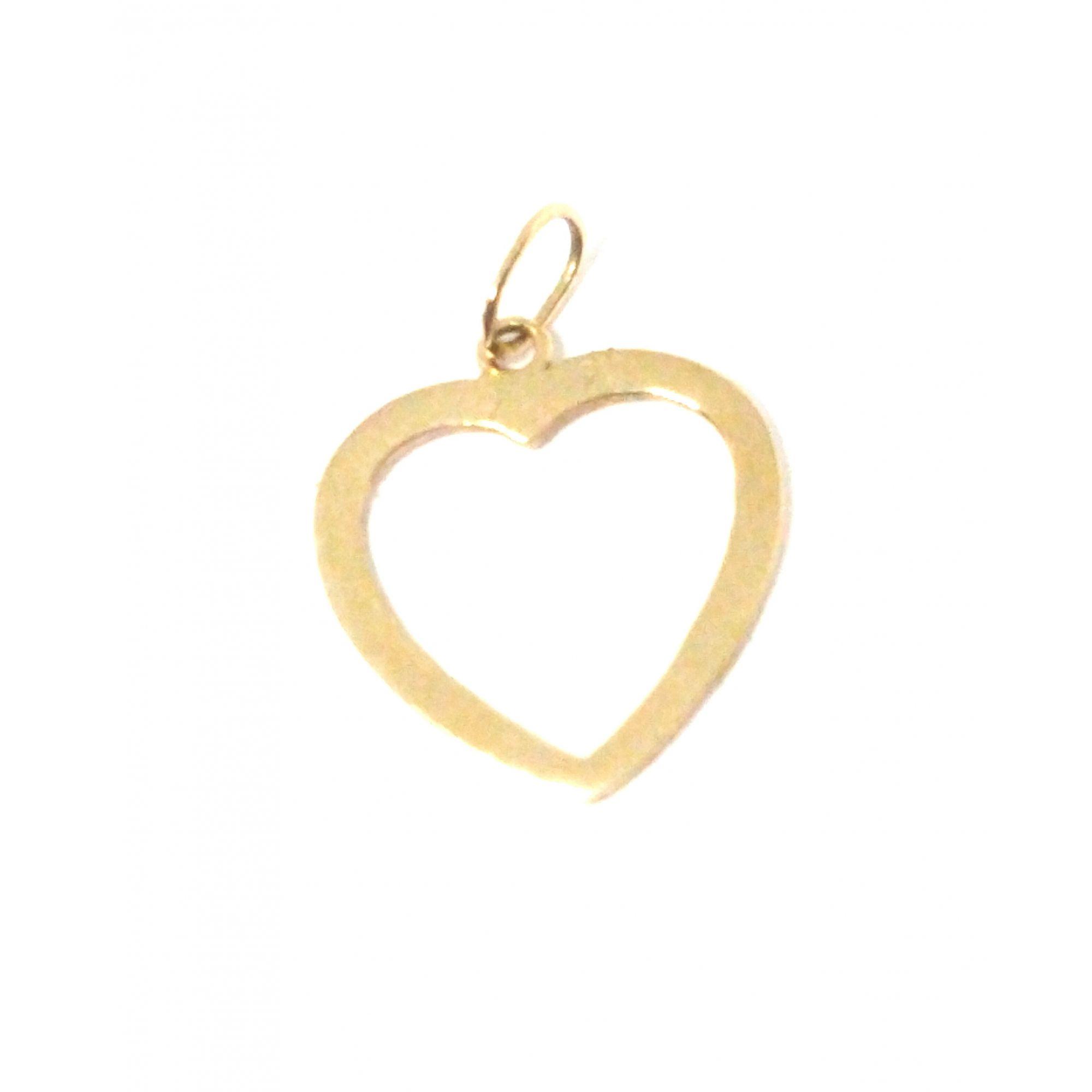 Pingente em ouro 18k Coração Vazado