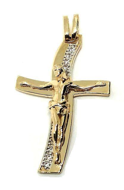 Pingente em Ouro 18K Crucifixo com Cristo