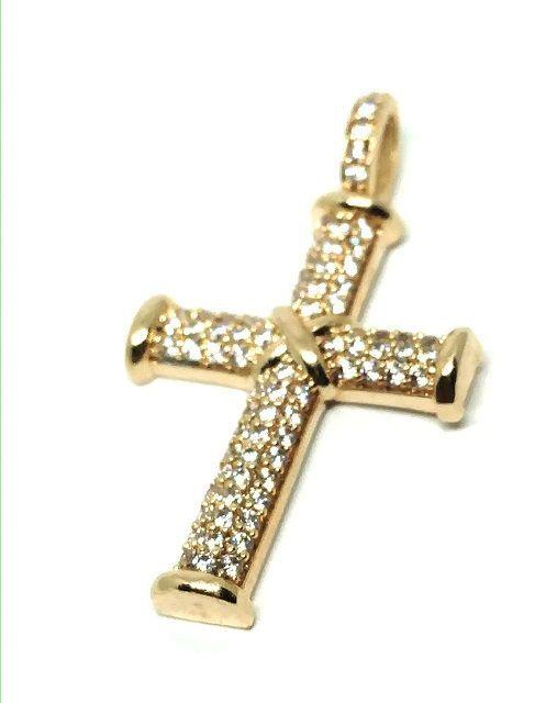 Pingente em Ouro 18K Crucifixo Cravejado