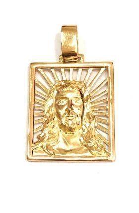 Pingente em Ouro 18K Face de Cristo