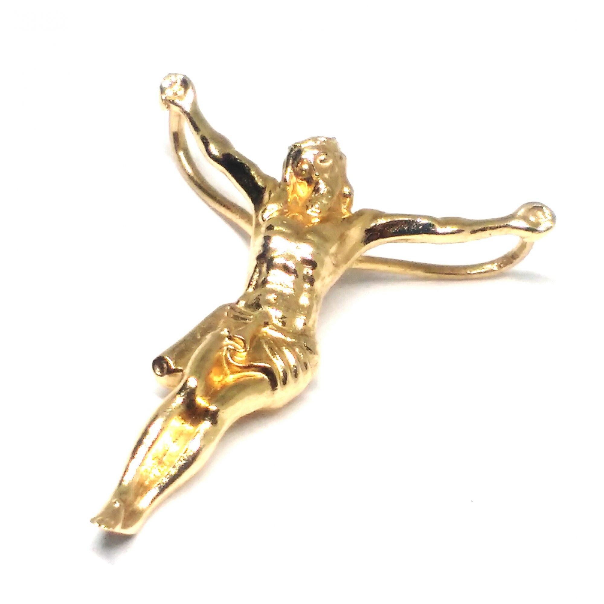 Pingente ouro 18 k Cristo sem cruz