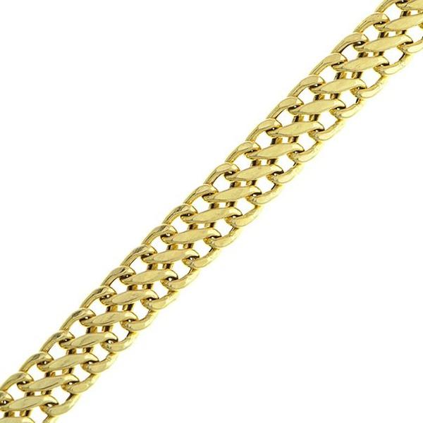 Pulseira de Ouro 18K Lacraia 19cm 5,70mm a 8,00mm Fina