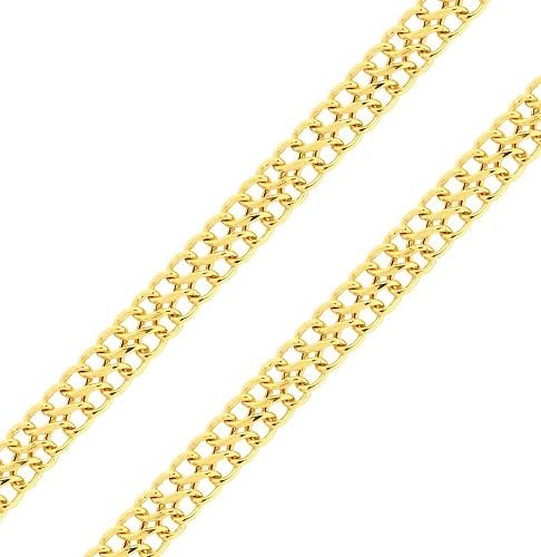 Pulseira de Ouro 18K Lacraia 19cm 9,10mm a 13,60mm Media
