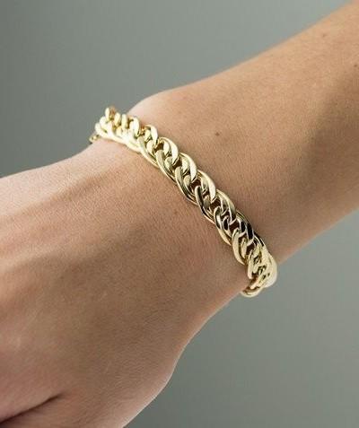 Pulseira de Ouro 18K Romana 19cm
