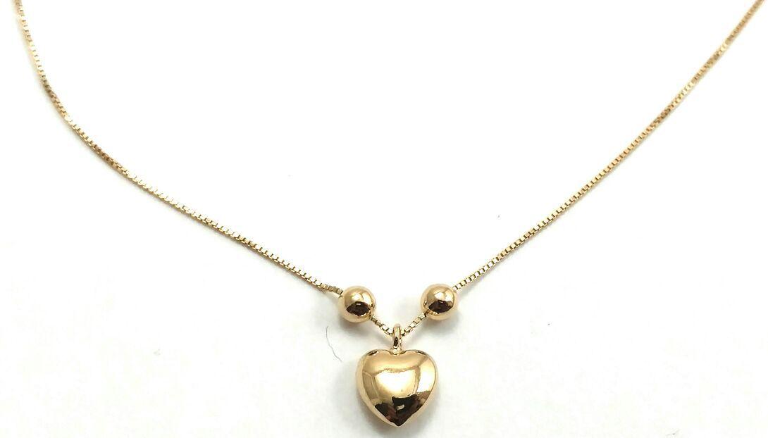 Tornozeleira de ouro 18k com pingente de coração