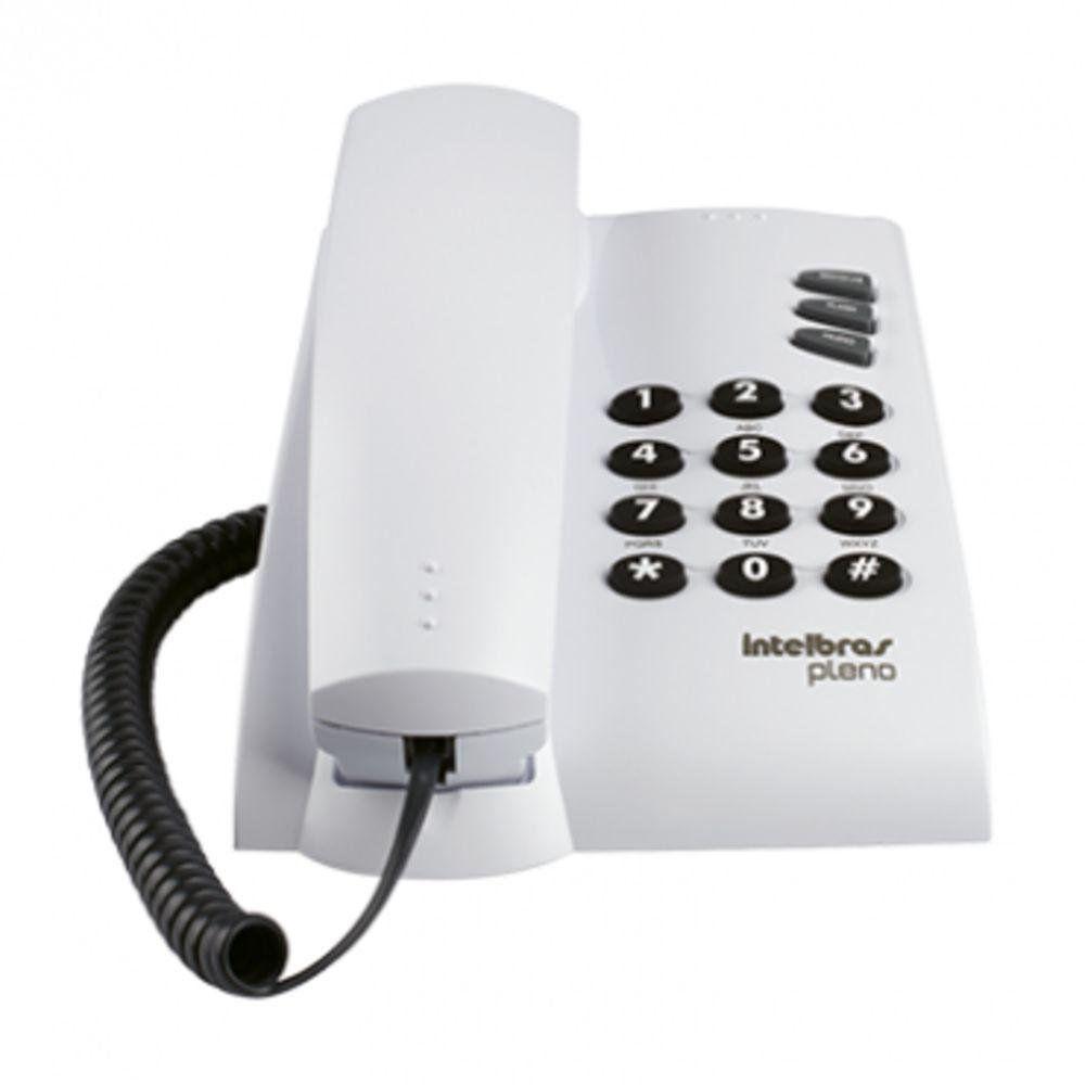 Aparelho Telefonico Fixo Pleno Branco C/ Fio Intelbras