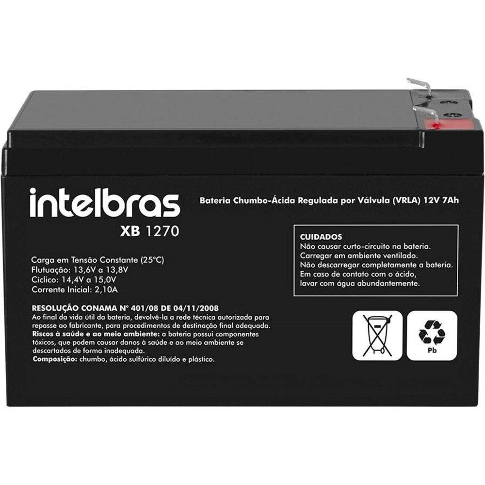Bateria de chumbo-ácido 12V XB 1270 Intelbras