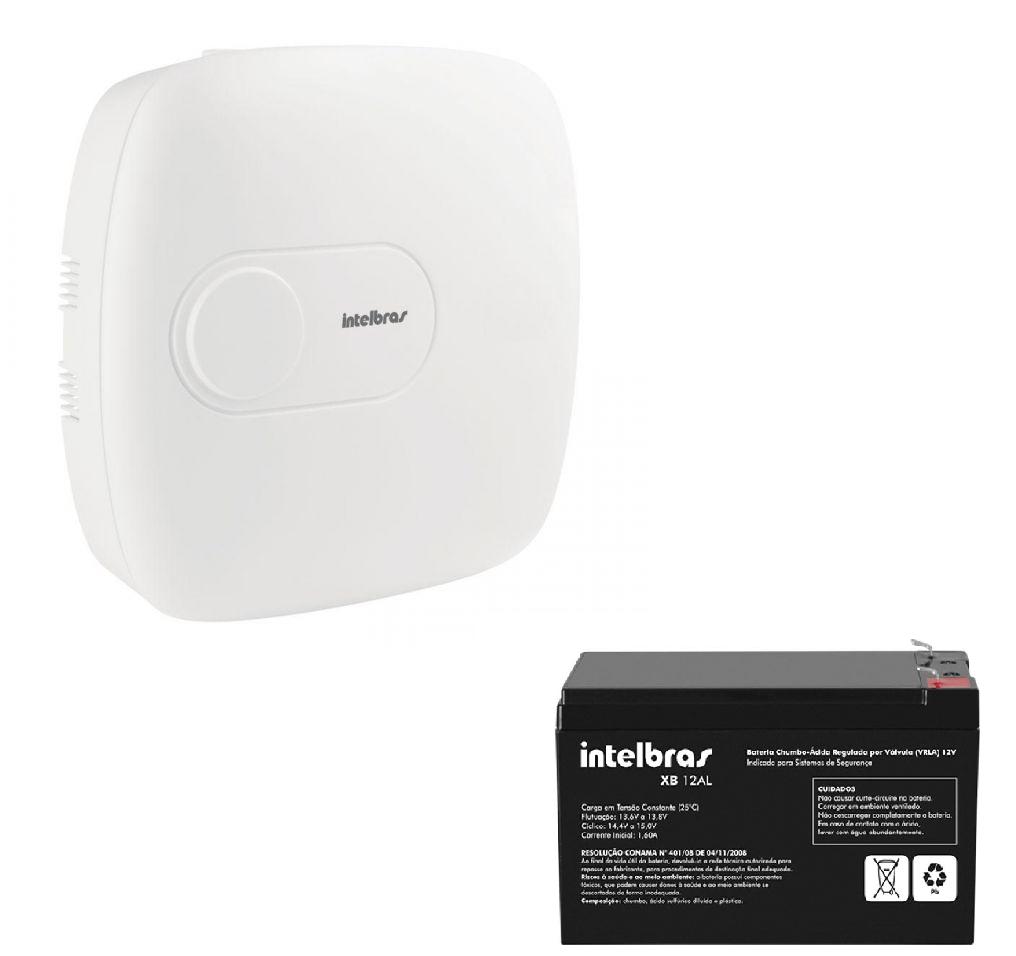 Central de alarme monitorada com até 64 zonas AMT 4010 SMART Com bateria