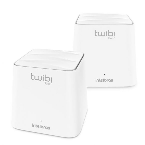 Conjunto Roteador wireless  dual band Intelbras Twibi Wifi Mesh portas Fast plano de internet até 100 megas