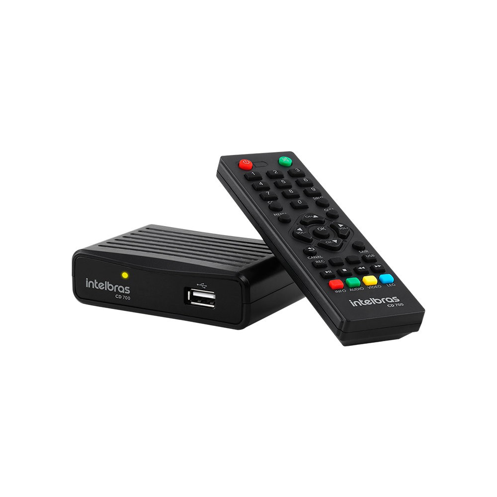 Conversor Digital De Tv Com Gravador Cd 700 Intelbras