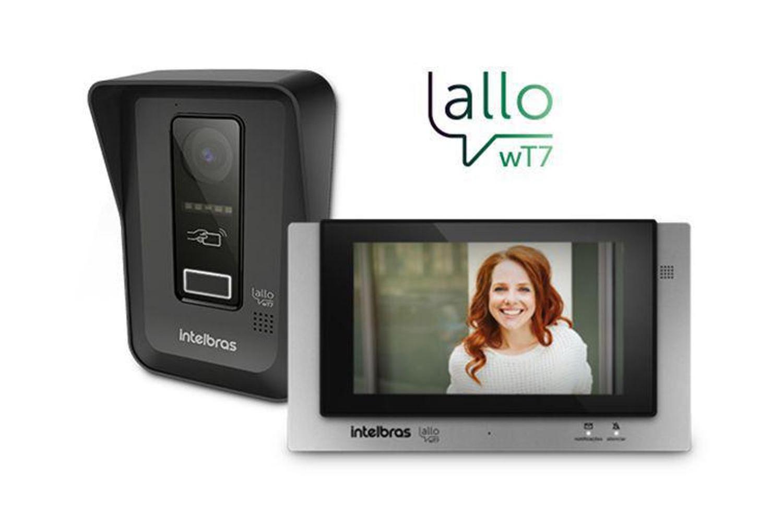 Videoporteiro Wi-fi Allo Wt7 Intelbras com 30 Metros de Cabo