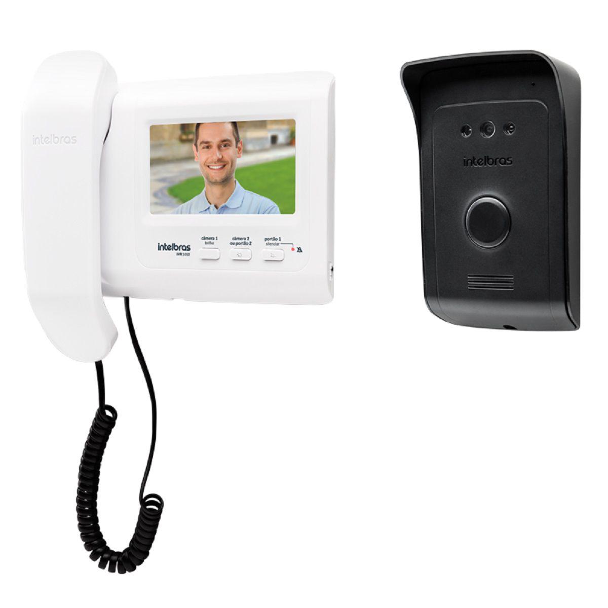 Fechadura Elétrica Fx 500 Com  Vídeo Porteiro IVR1010 Intelbras