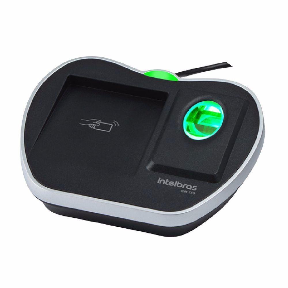 Leitor Cadastrador Biométrico Com Rfid Cm 350 Intelbras