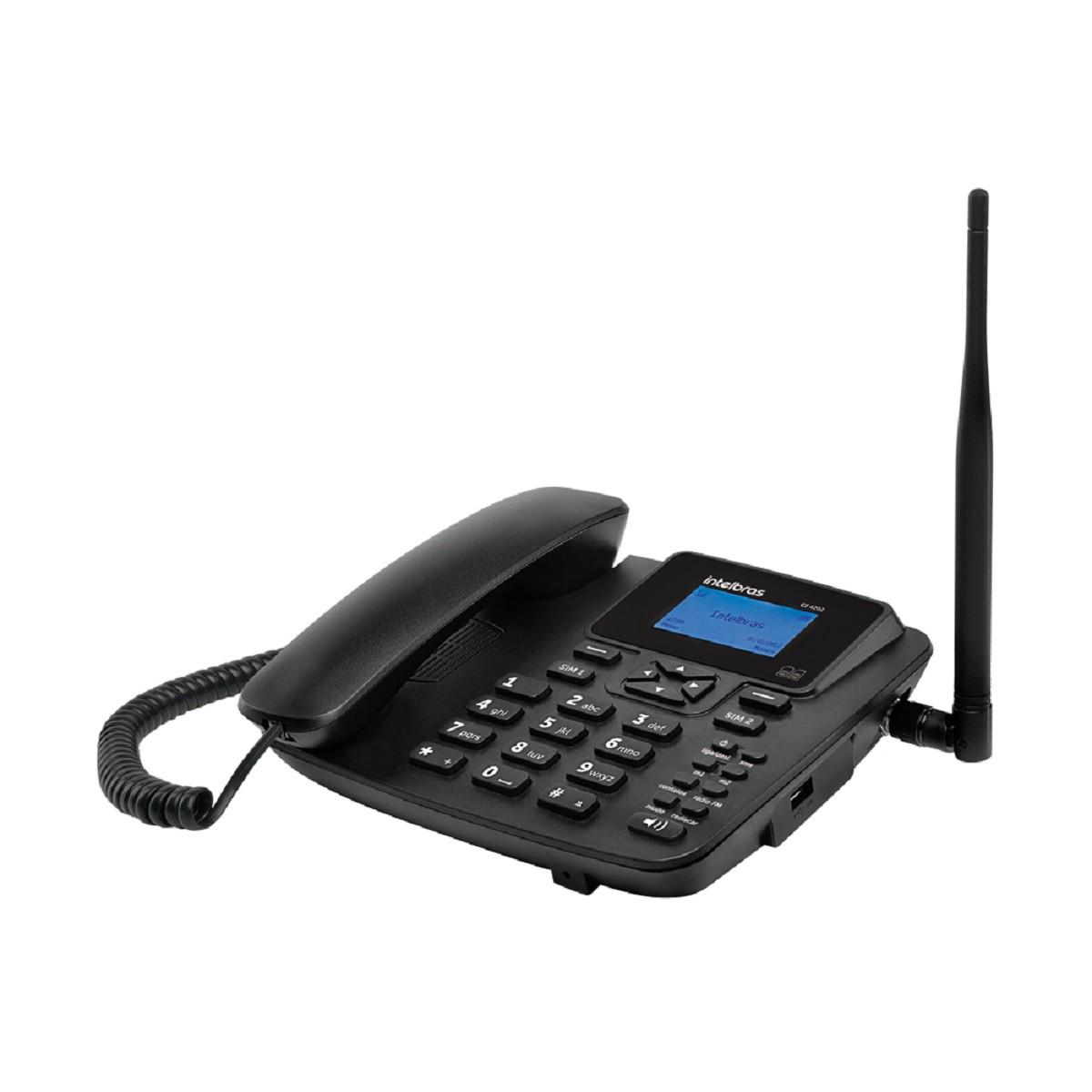 Telefone celular fixo GSM CF 4202 Dual chip Intelbras