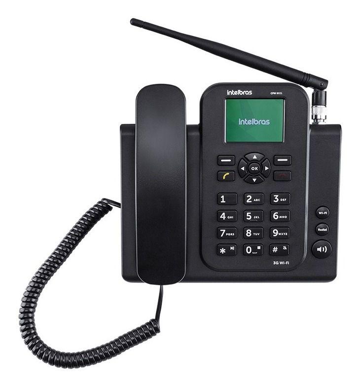 Telefone Celular Rural De Mesa Cfw 8031 3g C/ Wi-fi Roteador