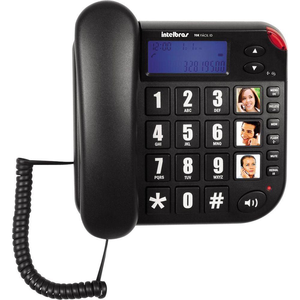 Telefone Intelbras Tok Facil Id C/ Identificador De Chamadas