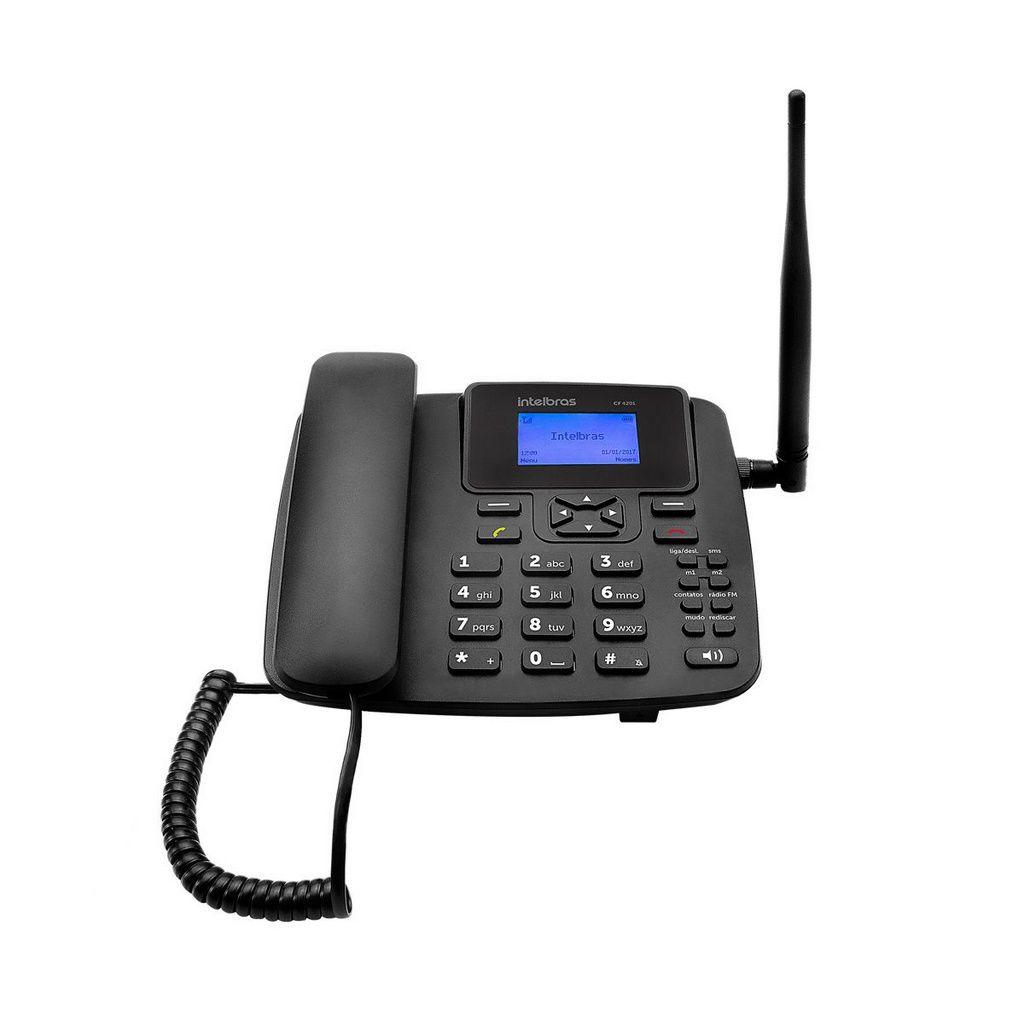 Telefone Rural Celular Fixo De Mesa Cf 4201 Intelbras