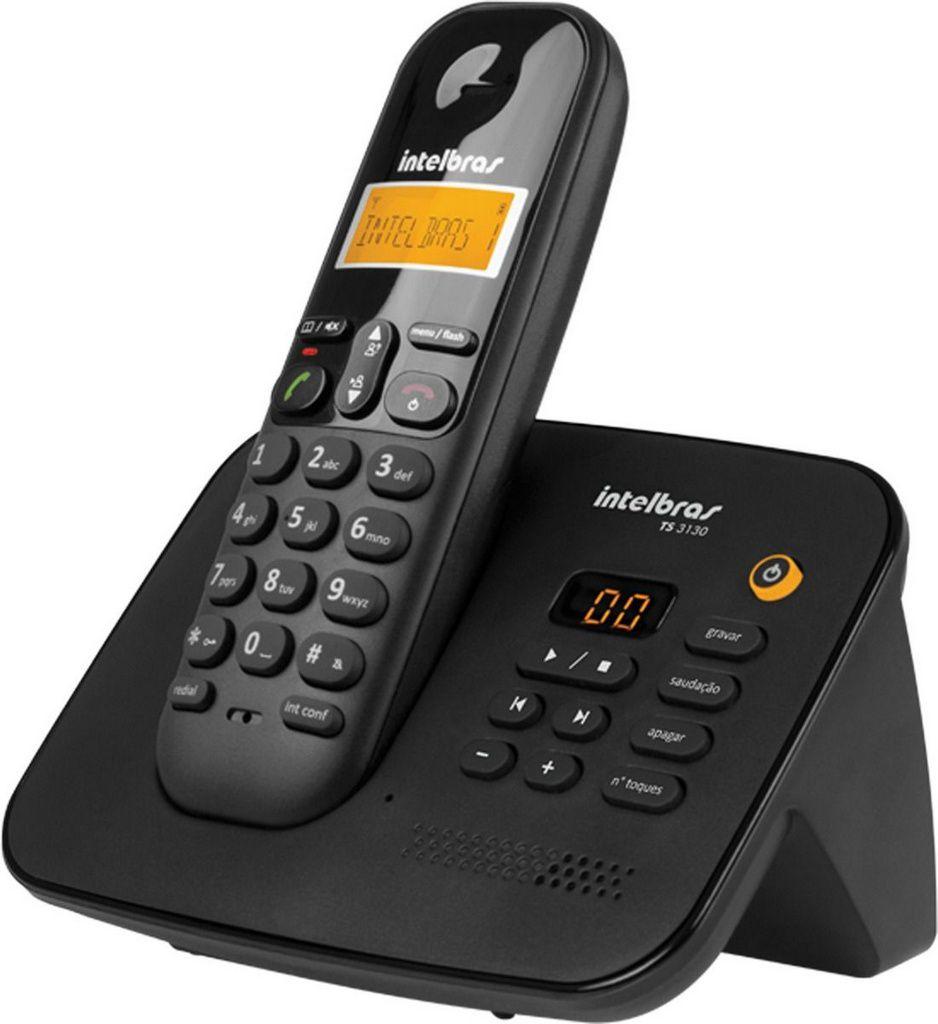 Telefone S/ Fio Intelbras Ts 3130 Secretaria Eletronica