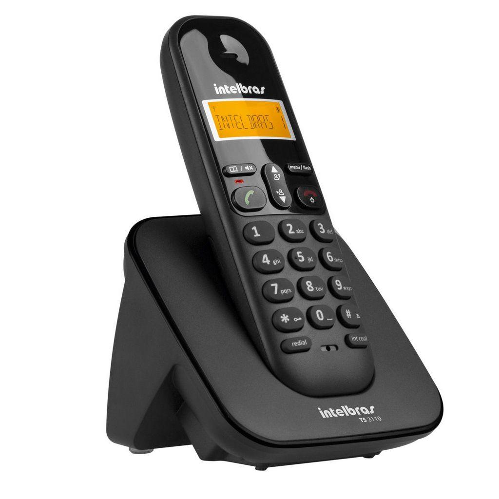 Telefone Sem Fio Digital Ts 3110 Preto Intelbras