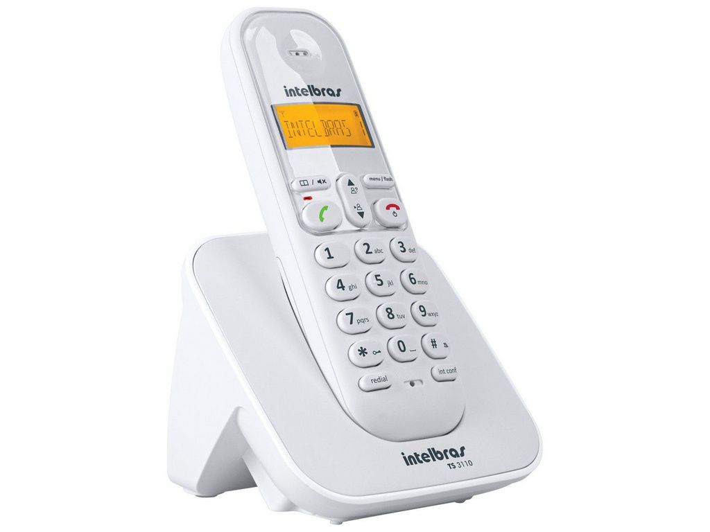 Telefone Sem Fio Intelbras Digital Ts 3110 Branco