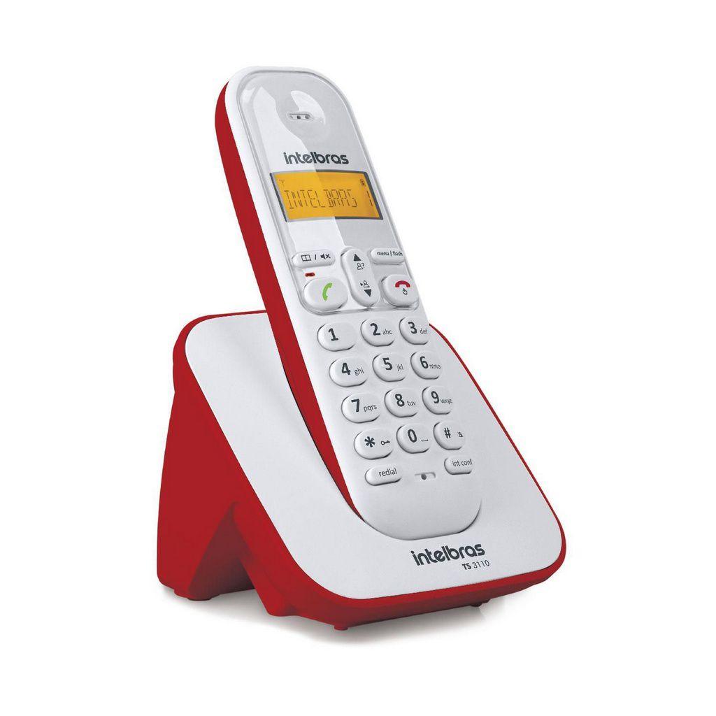 Telefone Sem Fio Ts 3110 Vermelho Intelbras