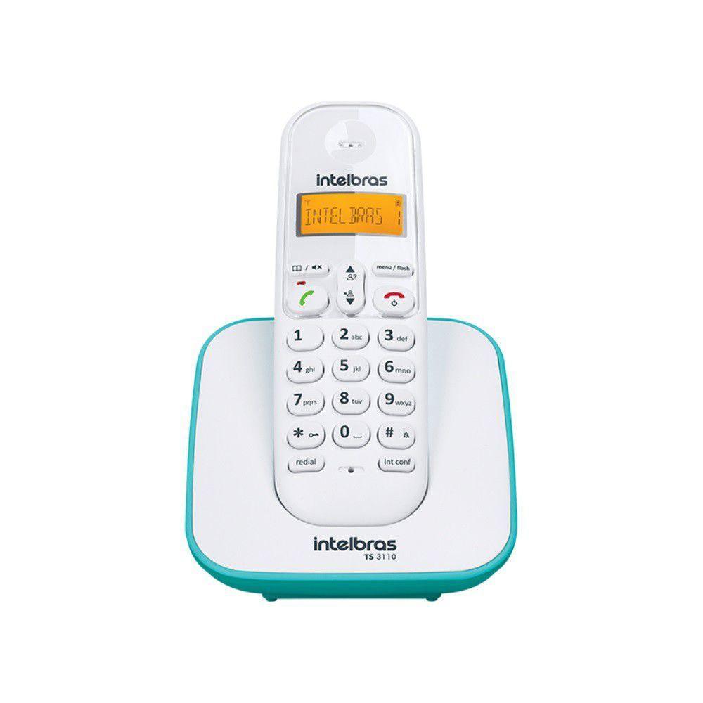 Telefone Ts 3110 Sem Fio Digital Branco E Azul Claro