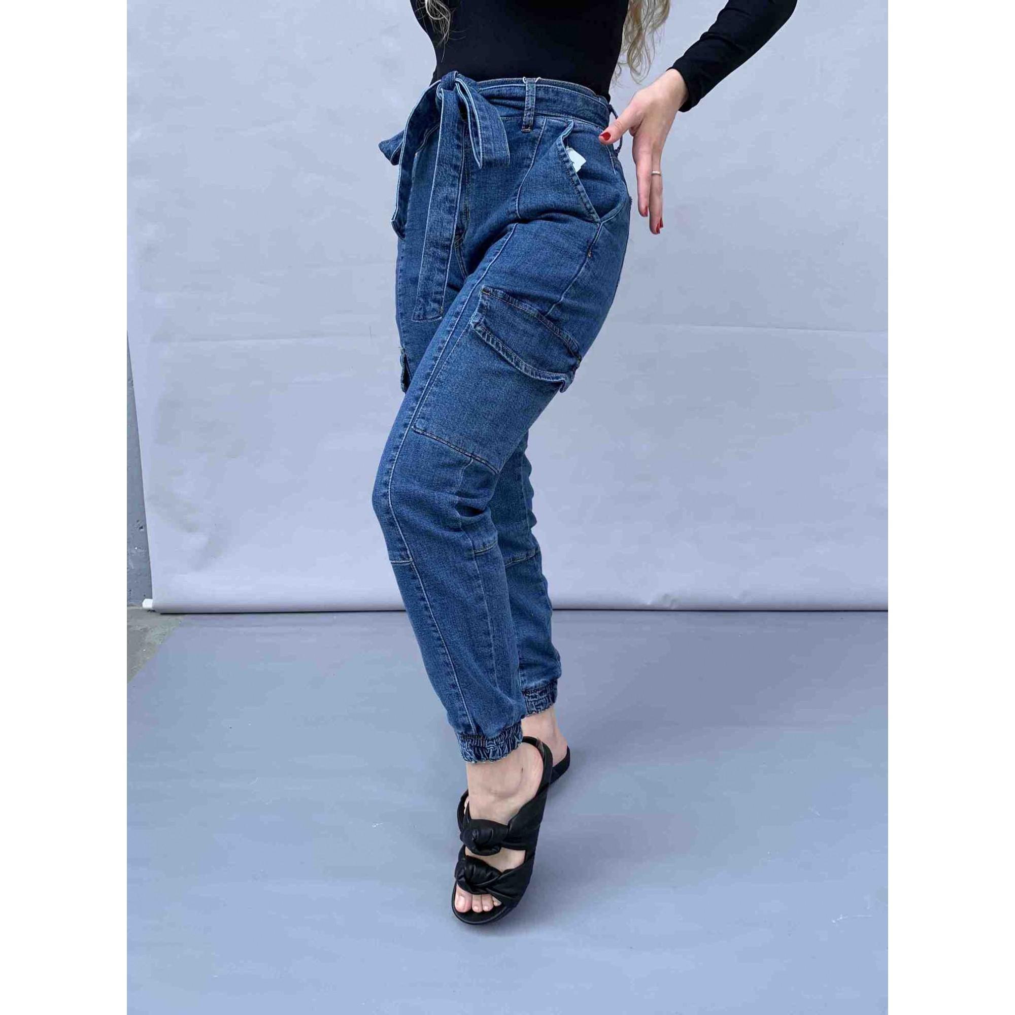 Calça Cargo Cinto Jeans Visual  - Choque Concept