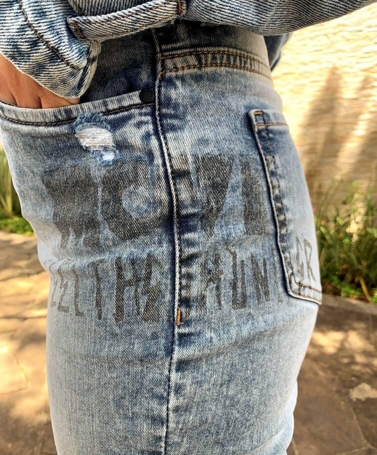 Calça Midi High Visual Jeans  - Choque Concept