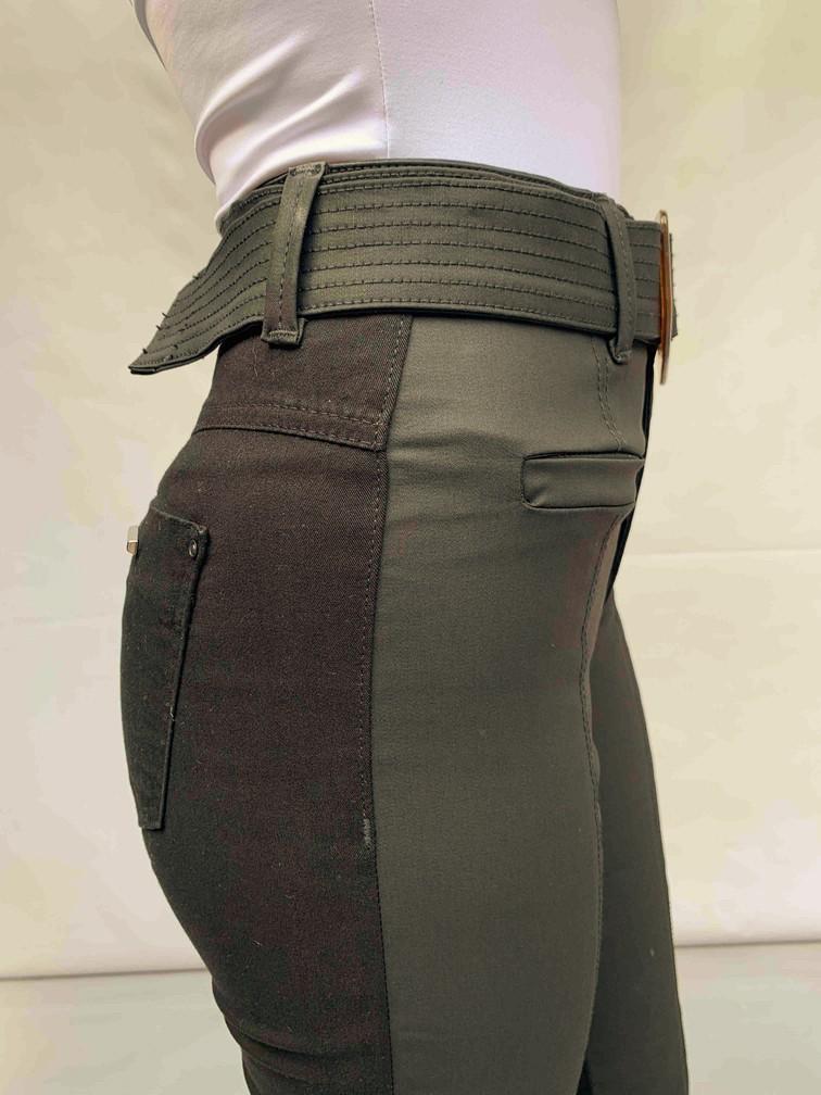 Calça Resinada Preta com Cinto Gatabakana  - Choque Concept
