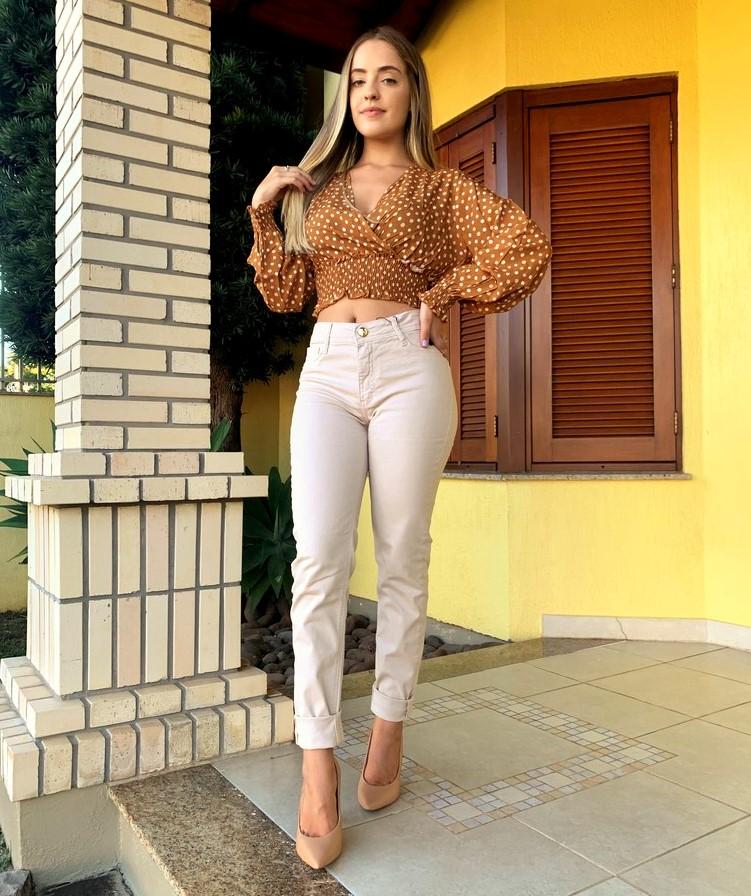 Calça Skinny Bege Visual Jeans  - Choque Concept