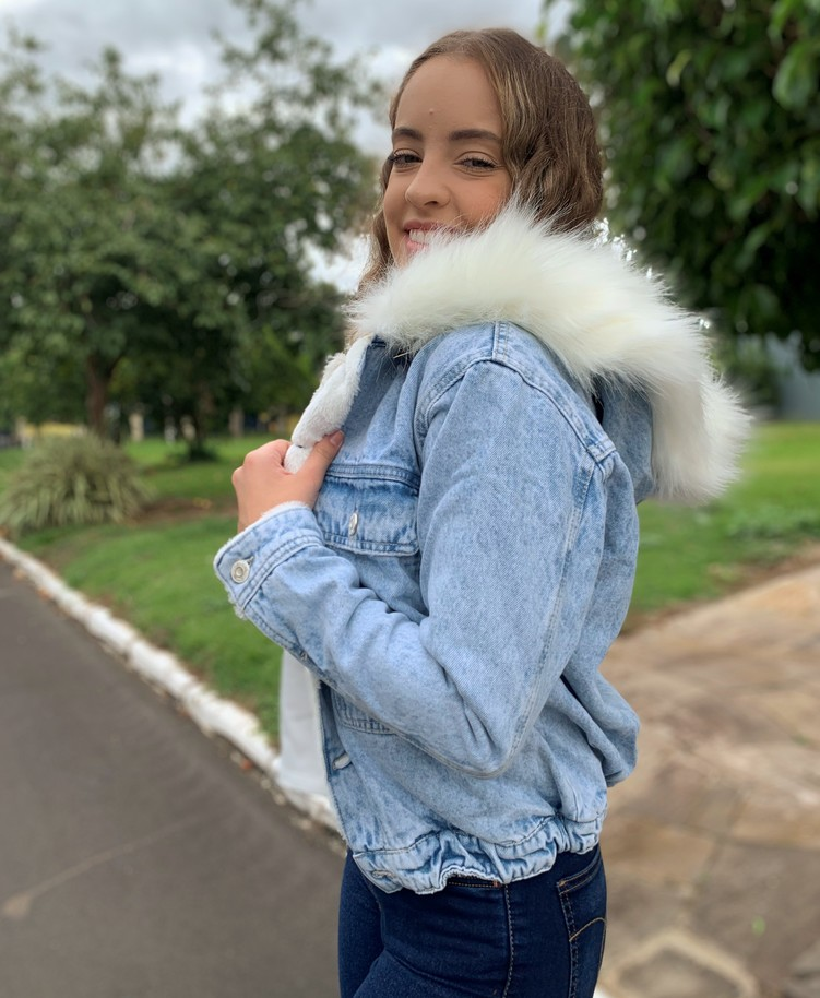 Jaqueta Bomber com pelinho Visual Jeans  - Choque Concept