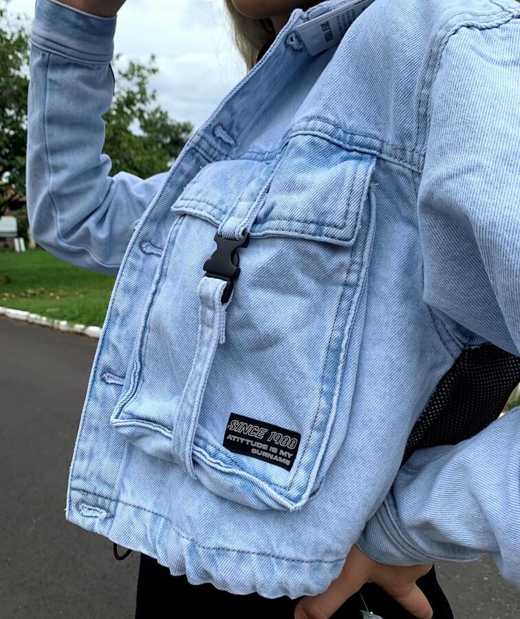 Jaqueta Cropped Visual Jeans  - Choque Concept