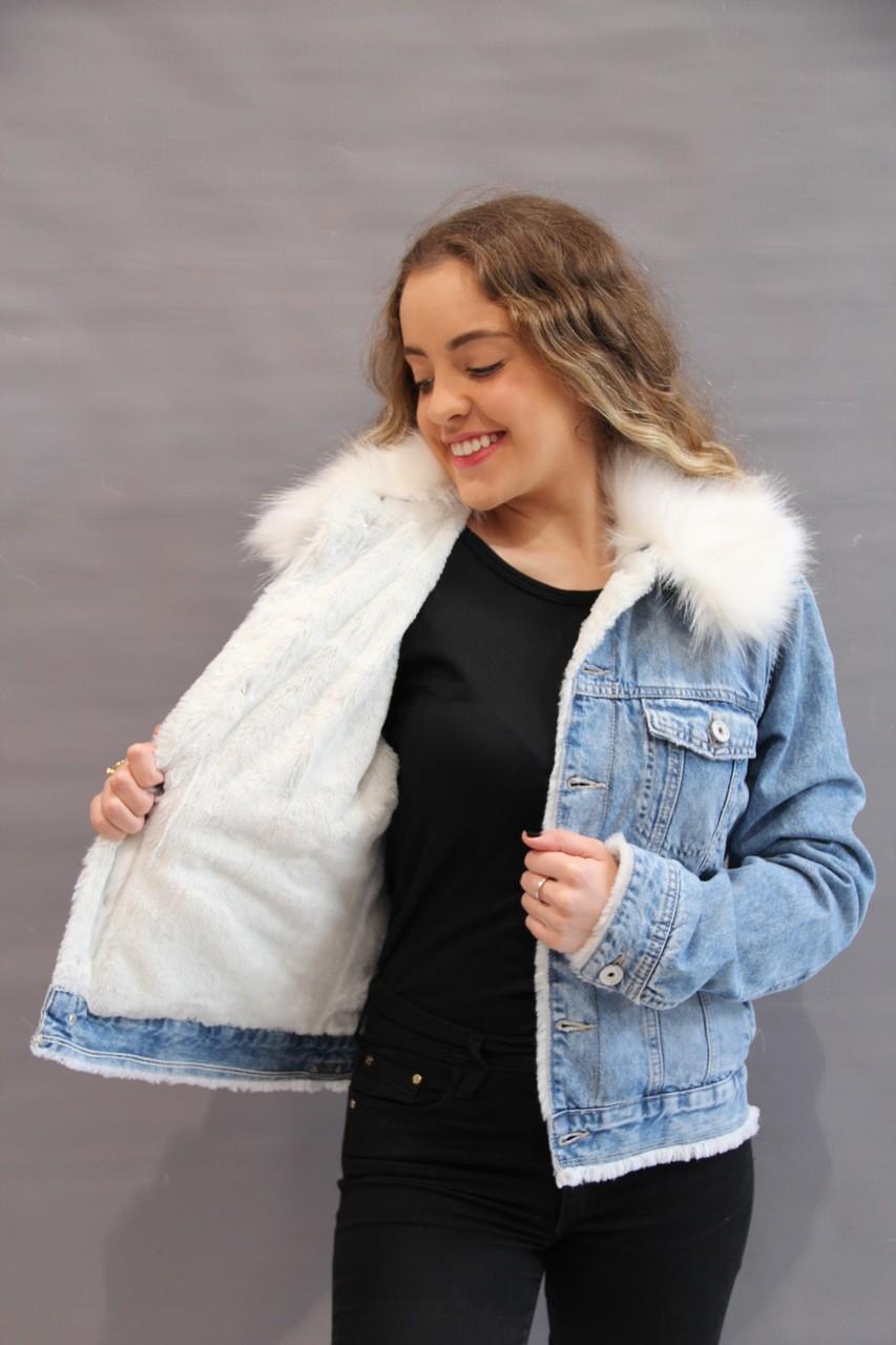 Jaqueta Jeans com pelinho   - Choque Concept