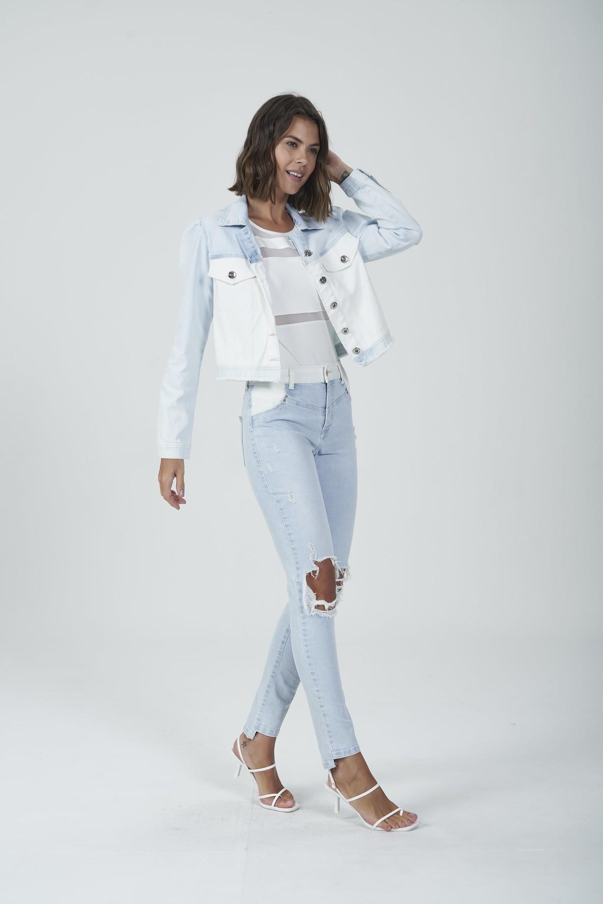 Jaqueta Jeans/Off Gatabakana  - Choque Concept