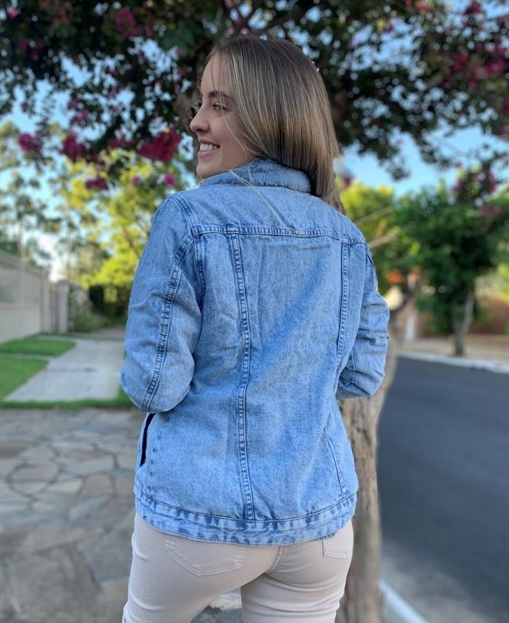 Jaqueta Trucker Jeans Azul Visual  - Choque Concept