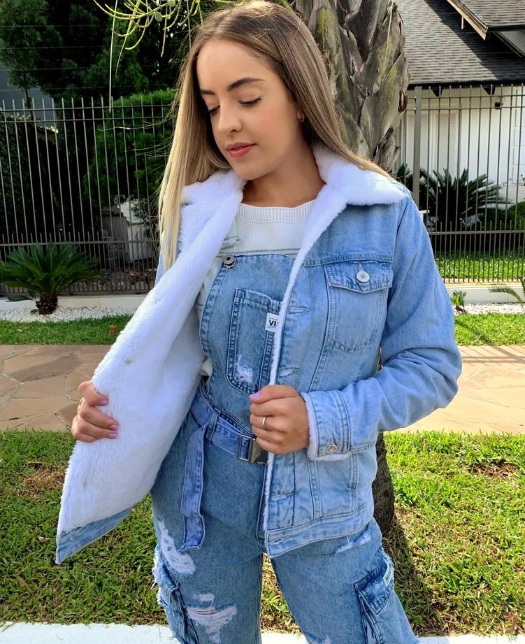 Jaqueta Trucker Jeans Branca Visual  - Choque Concept