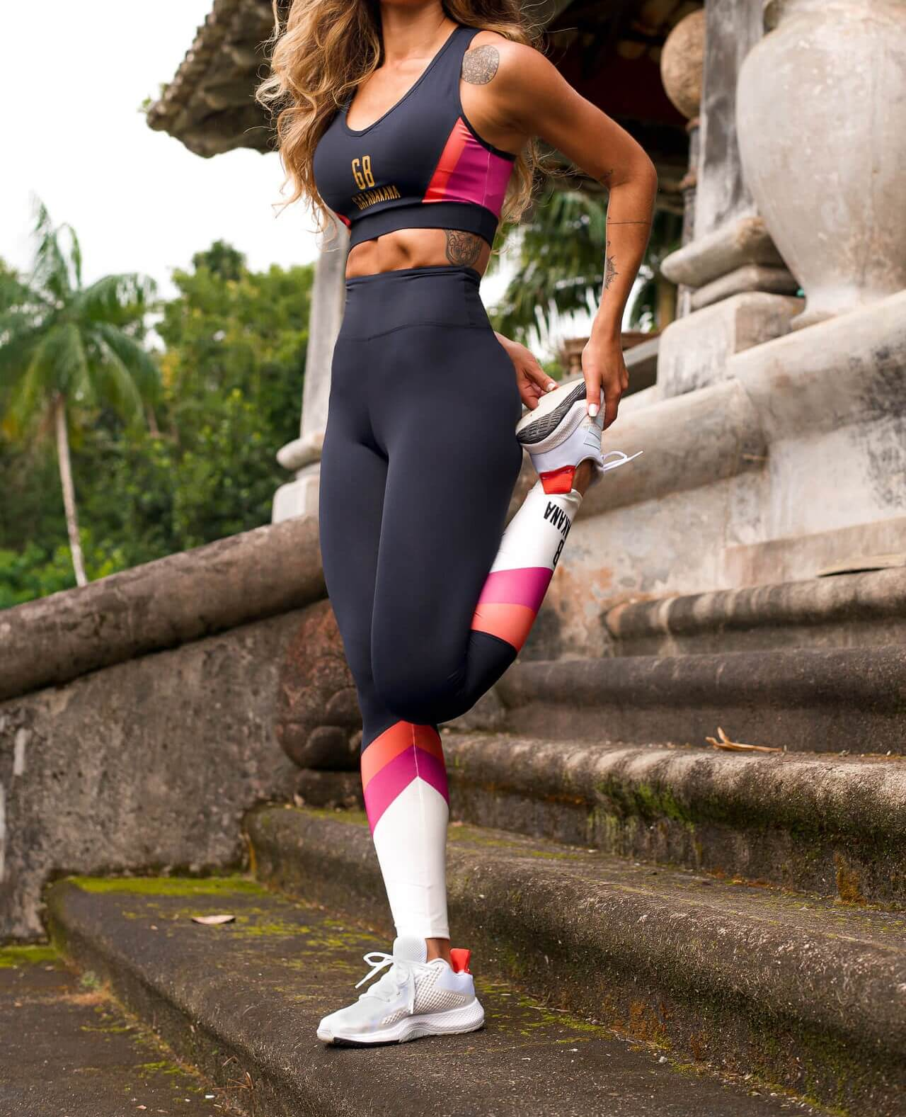 Legging Recortes Workout Gatabakana  - Choque Concept